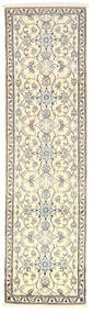 Nain Covor 79X286 Orientale Lucrat Manual Bej/Gri Deschis (Lână, Persia/Iran)