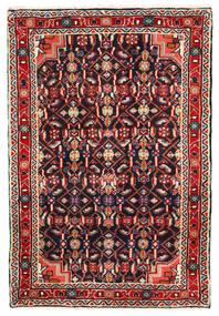 Hosseinabad Covor 68X102 Orientale Lucrat Manual Negru/Roșu-Închis (Lână, Persia/Iran)