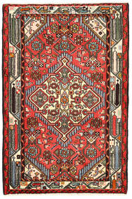 Hamadan Covor 82X125 Orientale Lucrat Manual Negru/Maro Închis (Lână, Persia/Iran)