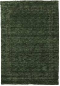 Handloom Gabba - Verde Pădure Covor 160X230 Modern Verde Închis (Lână, India)