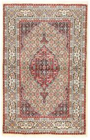 Moud Covor 96X194 Orientale Lucrat Manual Maro/Bej Închis (Lână/Mătase, Persia/Iran)