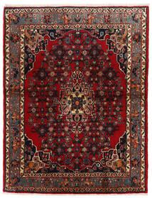 Bidjar Covor 105X137 Orientale Lucrat Manual Roșu-Închis/Maro Închis (Lână, Persia/Iran)