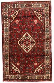 Bidjar Covor 105X150 Orientale Lucrat Manual Roșu-Închis/Maro Închis (Lână, Persia/Iran)