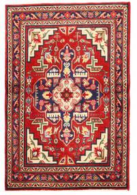 Tabriz Covor 97X148 Orientale Lucrat Manual Mov Închis/Ruginiu (Lână, Persia/Iran)