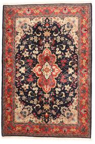Yazd Covor 120X182 Orientale Lucrat Manual Negru/Roșu-Închis (Lână, Persia/Iran)