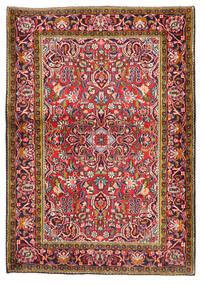 Kashan Covor 103X147 Orientale Lucrat Manual Roșu-Închis/Mov Închis (Lână, Persia/Iran)