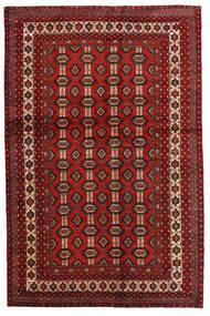 Mashhad Covor 130X200 Orientale Lucrat Manual Roșu-Închis/Maro Închis (Lână, Persia/Iran)
