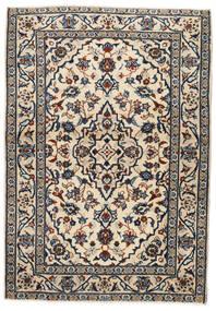 Kashan Covor 103X146 Orientale Lucrat Manual Bej/Negru/Gri Deschis (Lână, Persia/Iran)