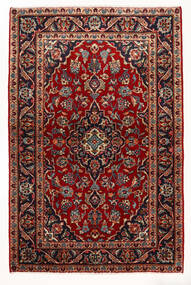 Kashan Covor 97X147 Orientale Lucrat Manual Roșu-Închis/Bej (Lână, Persia/Iran)