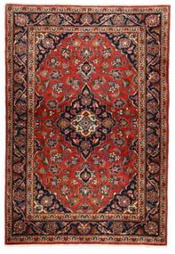 Kashan Covor 100X146 Orientale Lucrat Manual Maro Închis/Ruginiu (Lână, Persia/Iran)