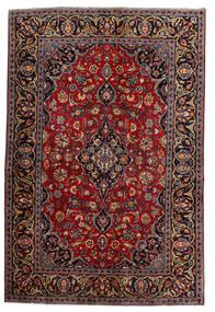 Kashan Covor 140X210 Orientale Lucrat Manual Roșu-Închis (Lână, Persia/Iran)