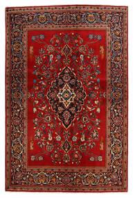 Kashan Covor 138X210 Orientale Lucrat Manual Ruginiu/Maro Închis (Lână, Persia/Iran)