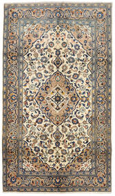 Kashan Covor 143X250 Orientale Lucrat Manual Bej/Gri Închis (Lână, Persia/Iran)