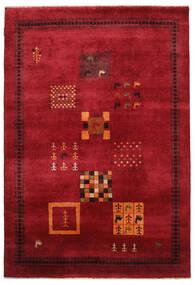 Gabbeh Loribaft Covor 155X225 Modern Lucrat Manual Roșu-Închis/Negru (Lână, India)