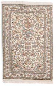Kashmir Pură Mătase Covor 64X95 Orientale Lucrat Manual Gri Deschis/Bej (Mătase, India)