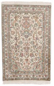Kashmir Pură Mătase Covor 62X94 Orientale Lucrat Manual Gri Deschis/Bej (Mătase, India)