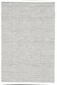 Chilim Honey Comb - Cream/Negru Covor 120X180 Modern Lucrate De Mână Gri Deschis/Bej (Lână, India)