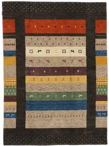 Loribaf Loom Covor 174X240 Modern Lucrat Manual Negru/Maro Deschis (Lână, India)