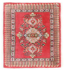 Kashmar Covor 75X84 Orientale Lucrat Manual Roșu-Închis/Roşu (Lână, Persia/Iran)