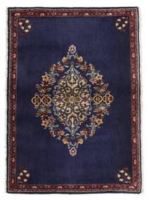 Kashan Covor 68X96 Orientale Lucrat Manual Mov Închis/Maro Închis (Lână, Persia/Iran)
