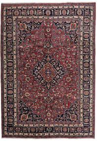Mashhad Covor 205X292 Orientale Lucrat Manual Negru/Maro Închis (Lână, Persia/Iran)