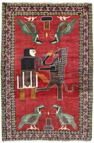 Ghashghai Covor 124X195 Orientale Lucrat Manual Roşu/Gri Închis (Lână, Persia/Iran)