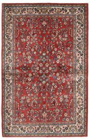 Sarouk Covor 132X206 Orientale Lucrat Manual Roșu-Închis/Bej (Lână, Persia/Iran)