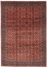 Mahal Covor 219X313 Orientale Lucrat Manual Roșu-Închis/Maro Închis (Lână, Persia/Iran)
