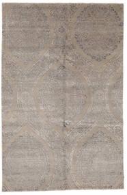 Damask Indo Covor 169X260 Modern Lucrat Manual Gri Deschis (Lână/Bambus Mătase, India)