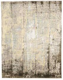 Damask Indo Covor 239X305 Modern Lucrat Manual Bej/Gri Deschis (Lână/Bambus Mătase, India)
