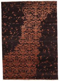 Damask Indo Covor 171X242 Modern Lucrat Manual Maro Închis/Roșu-Închis (Lână/Bambus Mătase, India)
