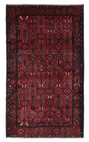 Beluch Covor 115X196 Orientale Lucrat Manual Negru/Roșu-Închis (Lână, Afganistan)