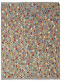 Chilim Afghan Old Style Covor 180X239 Orientale Lucrate De Mână Gri Închis/Gri Deschis (Lână, Afganistan)