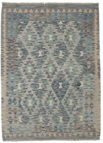 Chilim Afghan Old Style Covor 130X179 Orientale Lucrate De Mână Verde Închis/Gri Deschis/Gri Închis (Lână, Afganistan)