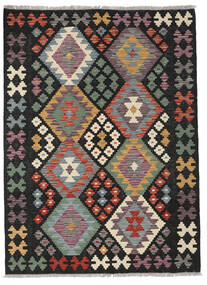 Chilim Afghan Old Style Covor 127X172 Orientale Lucrate De Mână Negru/Maro Deschis (Lână, Afganistan)