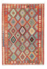 Chilim Afghan Old Style Covor 122X178 Orientale Lucrate De Mână Ruginiu (Lână, Afganistan)