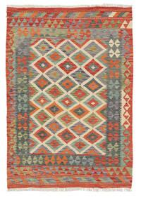 Chilim Afghan Old Style Covor 118X173 Orientale Lucrate De Mână Roşu/Gri Închis (Lână, Afganistan)