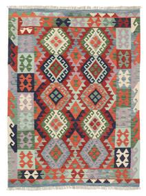 Chilim Afghan Old Style Covor 127X171 Orientale Lucrate De Mână Gri Deschis/Gri Închis (Lână, Afganistan)