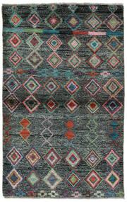 Moroccan Berber - Afghanistan Covor 91X146 Modern Lucrat Manual Negru/Verde Închis (Lână, Afganistan)
