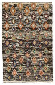 Moroccan Berber - Afghanistan Covor 89X138 Modern Lucrat Manual Maro Închis/Negru (Lână, Afganistan)