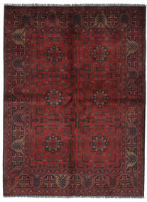Afghan Khal Mohammadi Covor 145X200 Orientale Lucrat Manual Negru/Maro Închis (Lână, Afganistan)