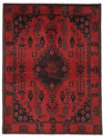 Afghan Khal Mohammadi Covor 150X202 Orientale Lucrat Manual Negru/Roșu-Închis (Lână, Afganistan)