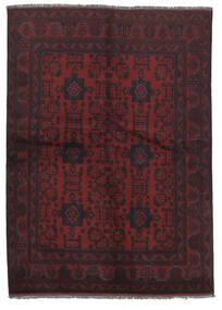 Afghan Khal Mohammadi Covor 141X200 Orientale Lucrat Manual Negru/Bej-Crem (Lână, Afganistan)
