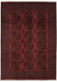 Afghan Covor 205X285 Orientale Lucrat Manual Negru (Lână, Afganistan)