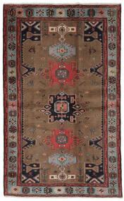 Hamadan Covor 121X191 Orientale Lucrat Manual Maro Închis/Negru (Lână, Persia/Iran)