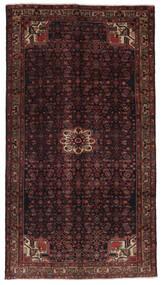 Hosseinabad Covor 159X288 Orientale Lucrat Manual Negru/Maro Închis (Lână, Persia/Iran)