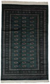 Pakistan Bukhara 3Ply Covor 154X250 Orientale Lucrat Manual Negru (Lână, Pakistan)