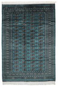 Pakistan Bukhara 2Ply Covor 155X217 Orientale Lucrat Manual Negru/Întuneric Turquoise (Lână, Pakistan)