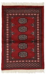 Pakistan Bukhara 3Ply Covor 80X120 Orientale Lucrat Manual Negru/Roșu-Închis (Lână, Pakistan)