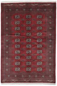 Pakistan Bukhara 3Ply Covor 140X201 Orientale Lucrat Manual Negru/Roșu-Închis (Lână, Pakistan)